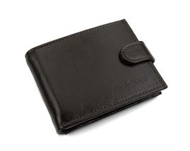 Elegant brown leather wallet SOLIER SW03