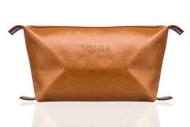 Elegant leather men's beauty bag SOLIER PERTH