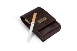 LEATHER MEN'S CIGAR CASE SOLIER SA14 MAROON