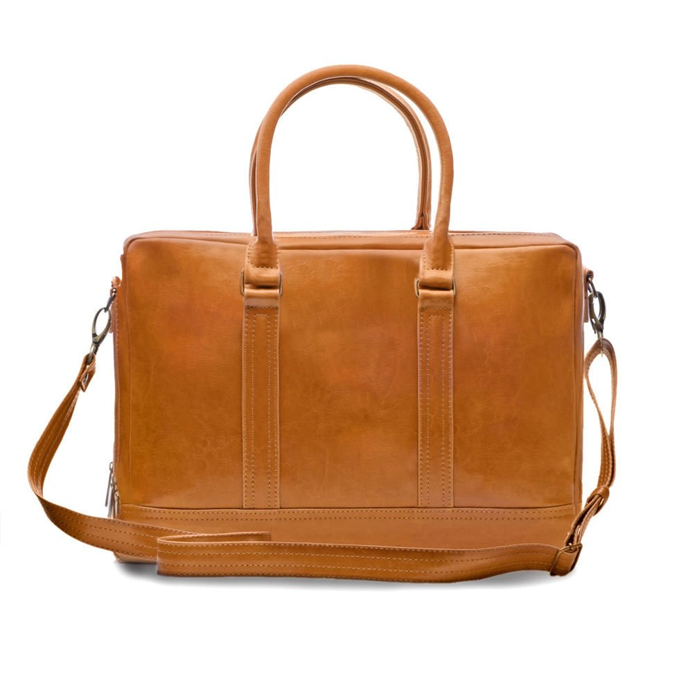 Men's leather shoulder laptop bag ABERDEEN CAMEL | Men`s bags ...