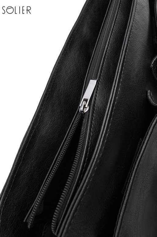 Casual urban shoulder bag LANARK grey/black