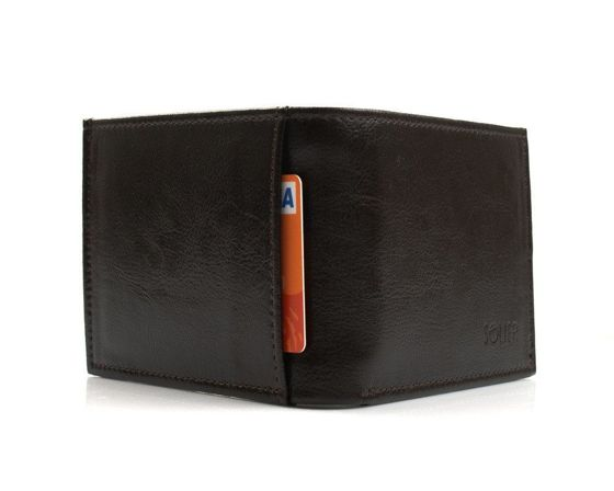 Elegant brown leather wallet SOLIER SW03B