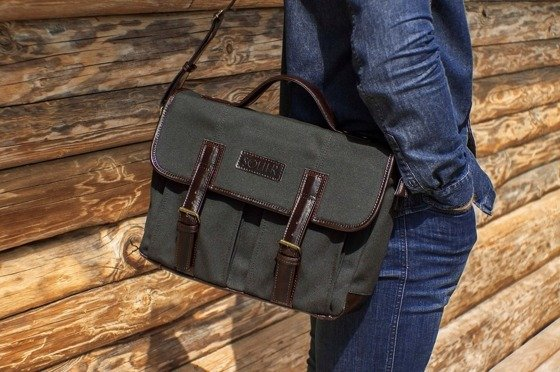 Genuine leather shoulder bag Solier SL14 HIKE