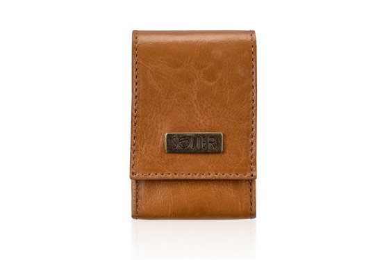 LEATHER MEN'S CIGAR CASE SOLIER SA14 STANDARD CAMEL