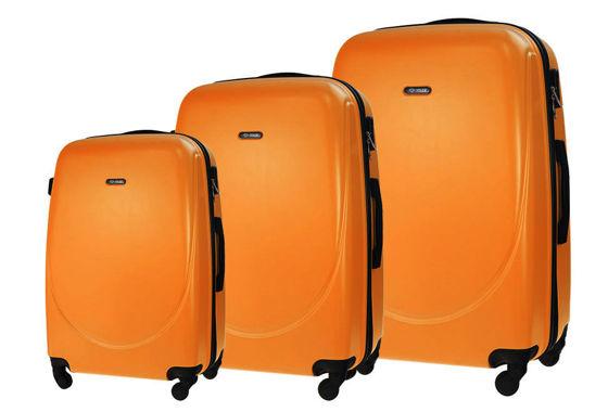 2909e6f54ee1c Zestaw walizek podróżnych STL856 pomarańczowy   sklep.solier.pl