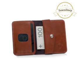 PERSONALISED GENUINE LEATHER WALLET WITH COIN HOLDER SW16