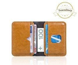 Personalised genuine leather men's wallet SW11