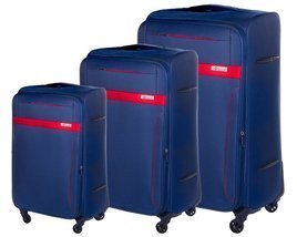 Soft luggage set Solier STL1316 navy-red