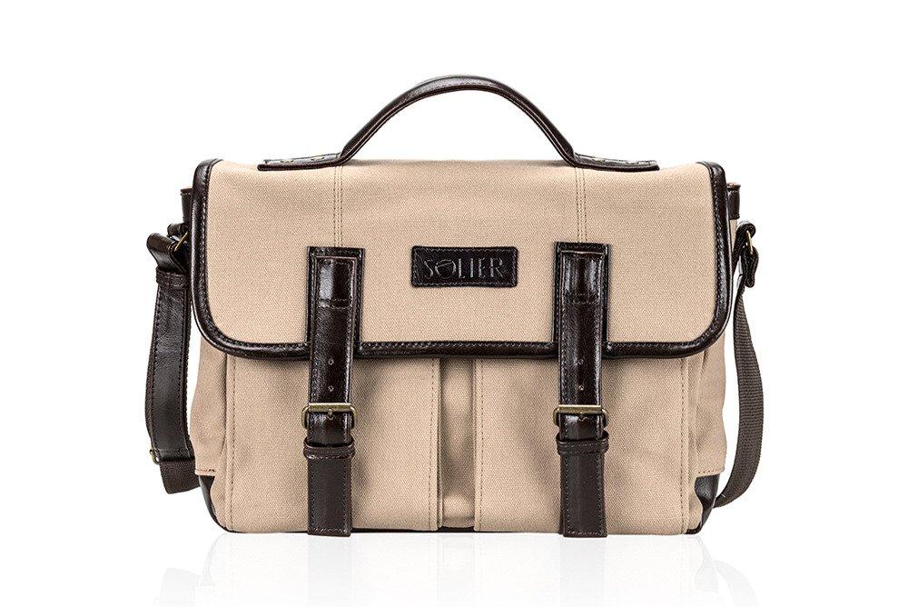 0295233419221 Genuine leather shoulder bag Solier SL14 HIKE Click to zoom ...