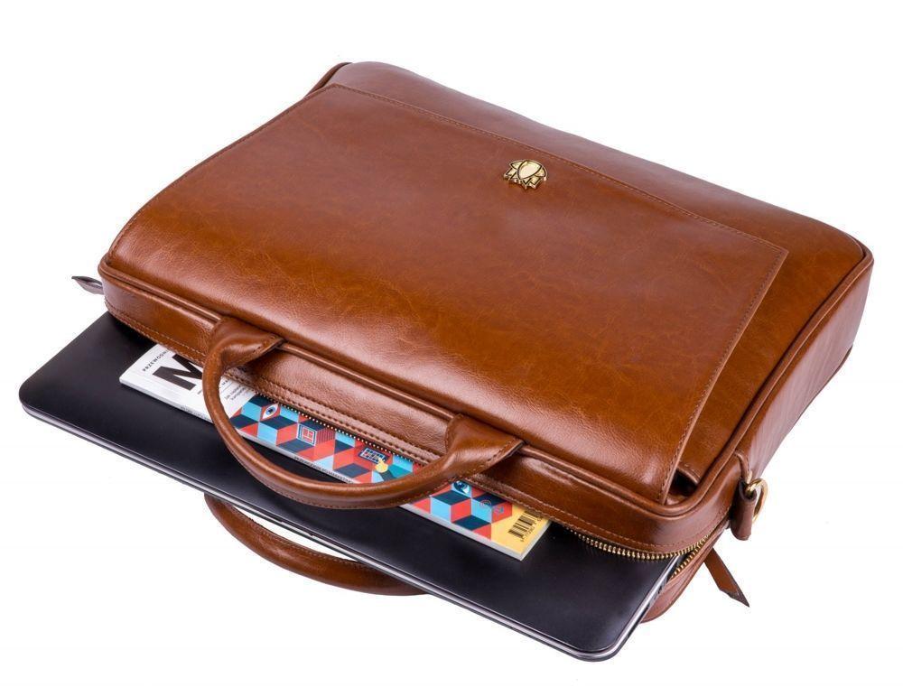 727c6c5411dce ... Genuine leather woman s laptop bag FL14 Rimini vintage brown Click to  zoom ...
