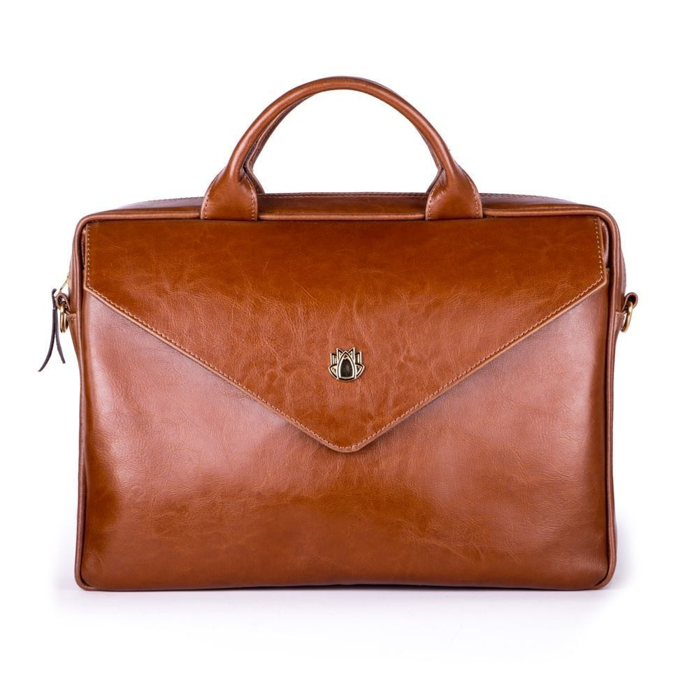 7a33fdc524ce9 ... Genuine leather woman s laptop bag FL15 Positano vintage brown Click to  zoom ...