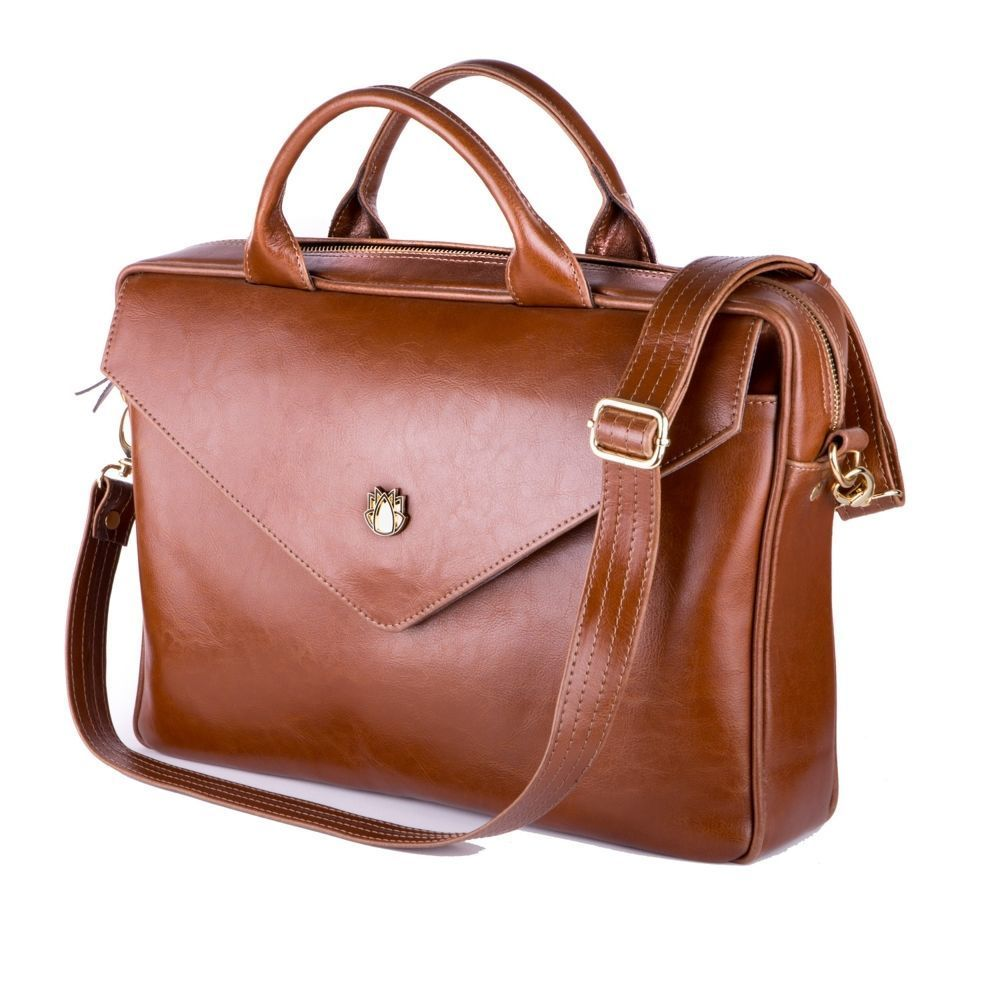 3135efe62e21e Genuine leather woman s laptop bag FL15 Positano vintage brown Click to  zoom ...