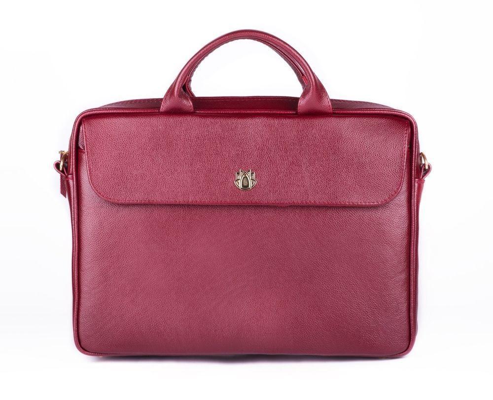 b5b3e262e1a639 ... Genuine leather woman's laptop bag FL16 Sorrento burgundy Click to zoom  ...