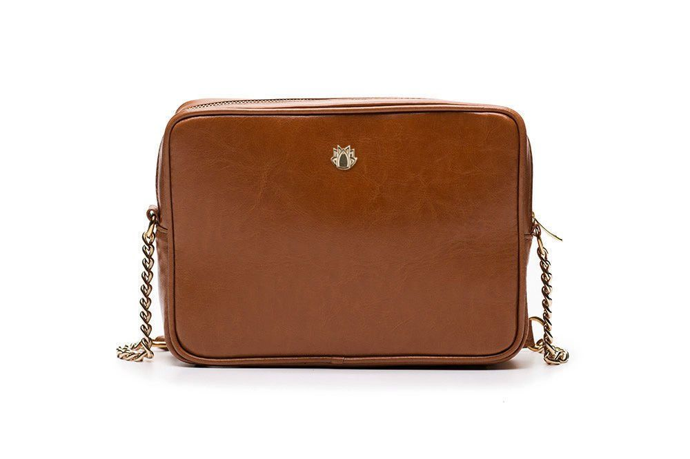 8508b047ef ... Genuine leather women s crossbody Florence light brown Click to zoom ...