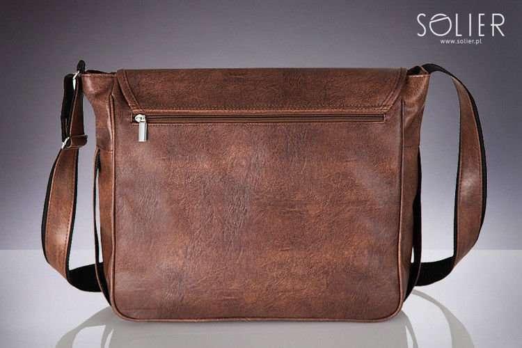 a2869f1e2a450 ... Light brown shoulder laptop bag Solier S12 Click to zoom ...