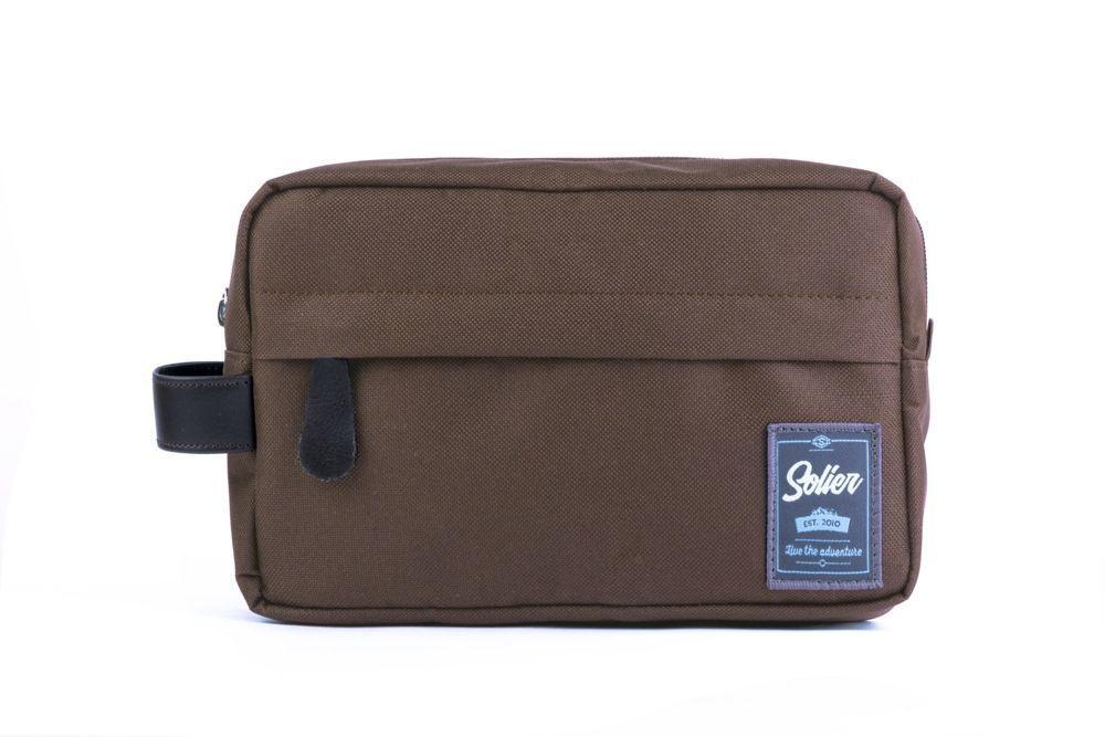 e948c718f2cf Material men's beauty bag SOLIER SK03 Brown