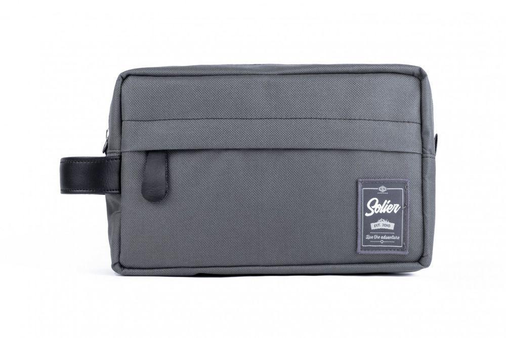 37c0898ed06f Material men's beauty bag SOLIER SK03 GREY