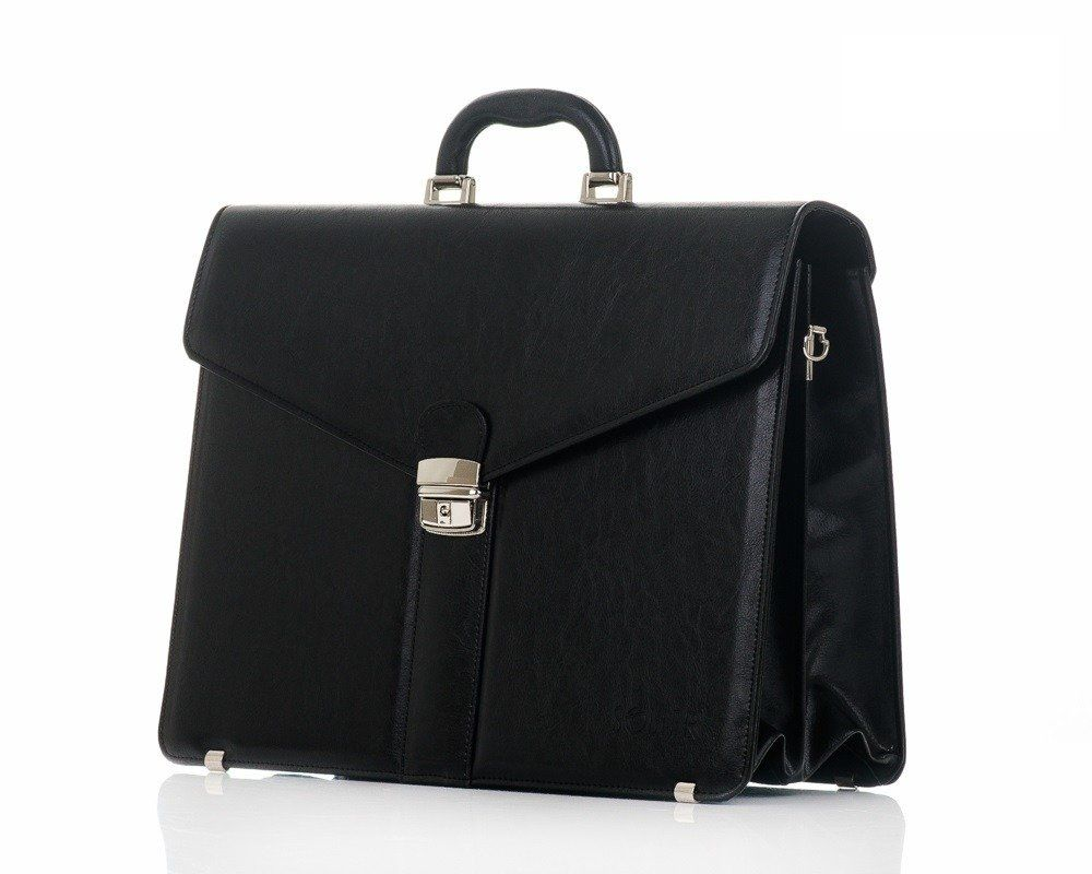b613cafa7dbe9 Men`s business briefcase SOLIER S20 Black