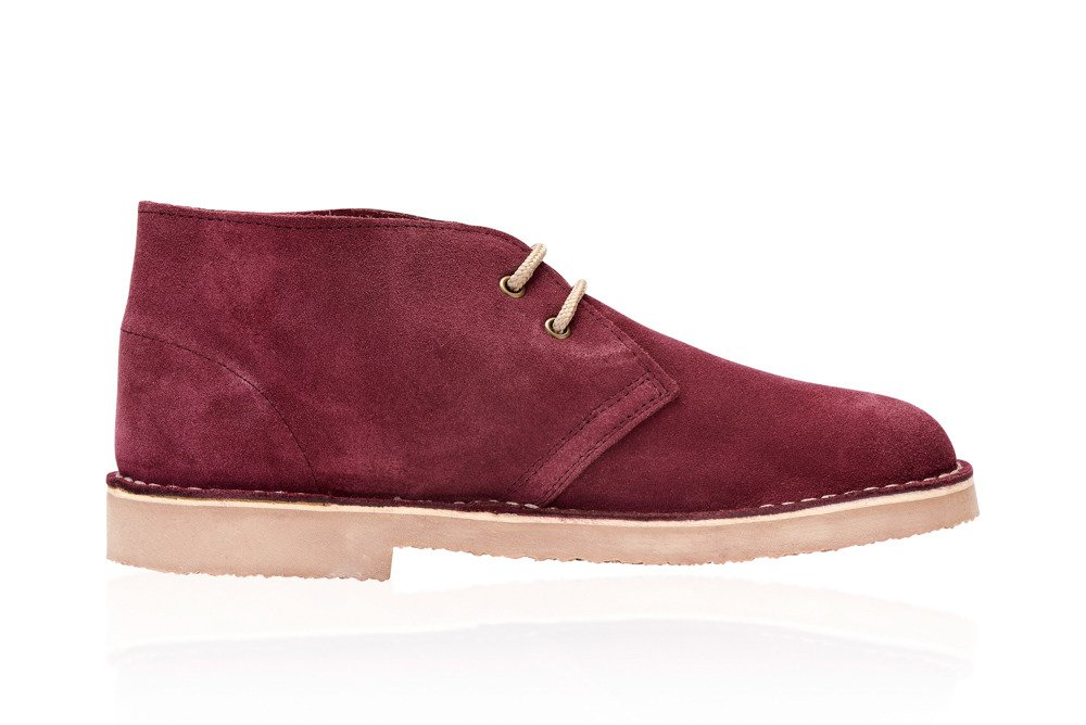 216267a8053 Men's stylish leather suede Chukka shoes/boots burgundy