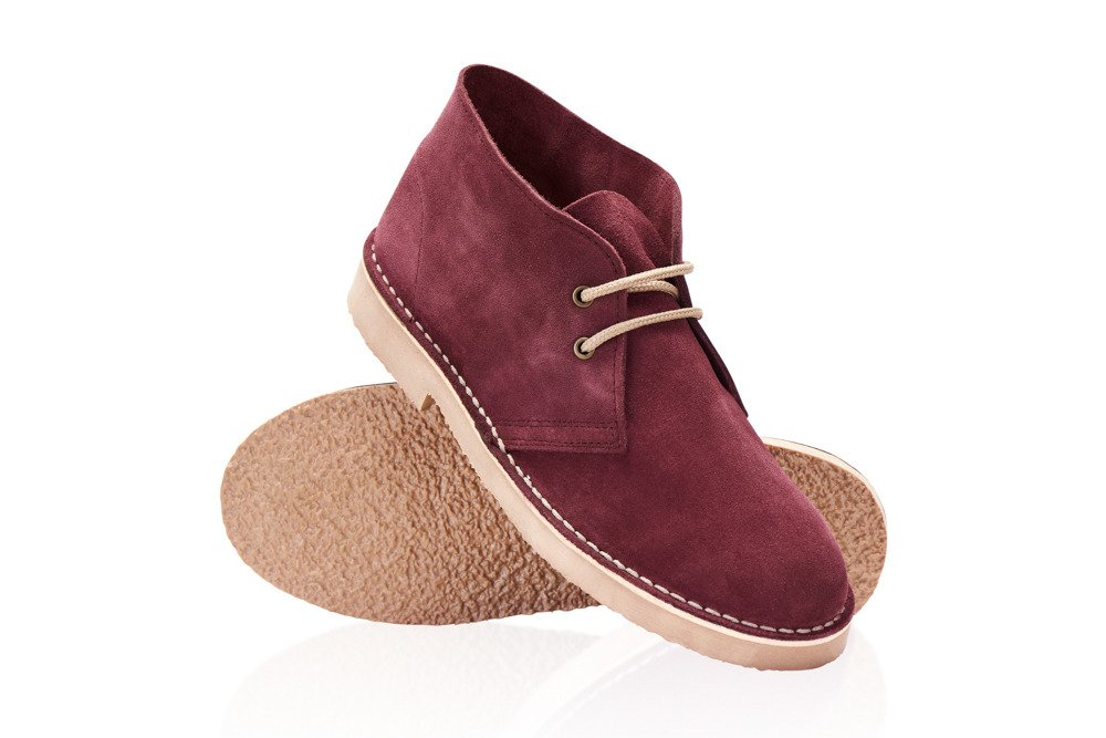 287b17a0c46fe Men's stylish leather suede Chukka shoes/boots burgundy Click to zoom ...