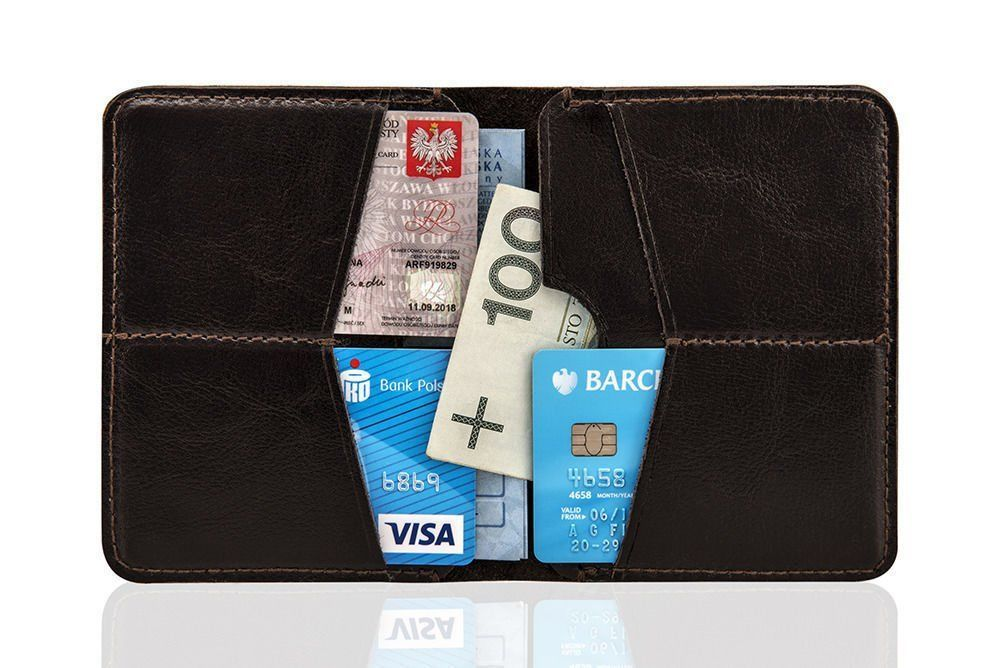 8e153fdbda55a ... Slim leather men s wallet SOLIER SW10 SLIM BROWN Click to zoom ...