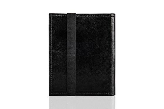 Black leather wallet / passport holder SOLIER SW07