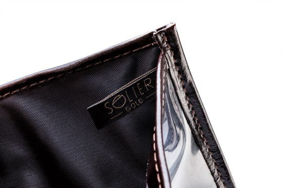 Brown leather wallet / passport holder SOLIER SW07