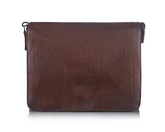 Brown men`s shoulder bag S11