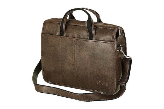 Brown shoulder laptop bag S13