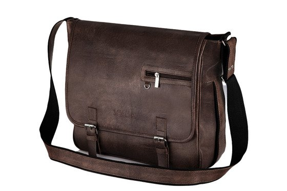 Brown shoulder laptop bag Solier S12
