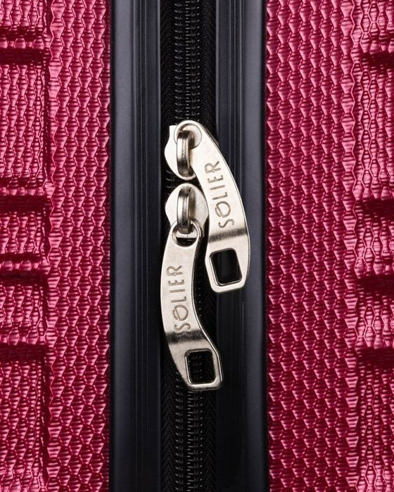 Cabin luggage ABS 48x32x21 STL838 burgundy