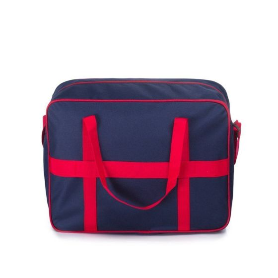 Cabin luggage Solier STB01 navy-red