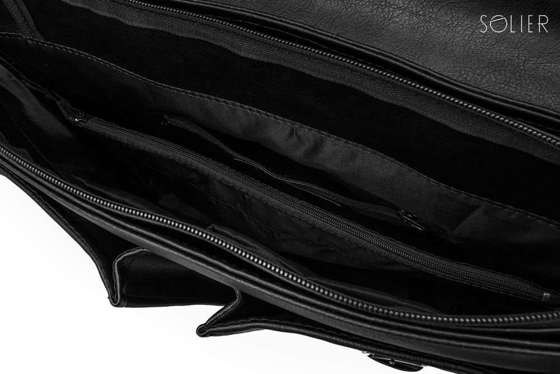 Casual urban shoulder bag LANARK black