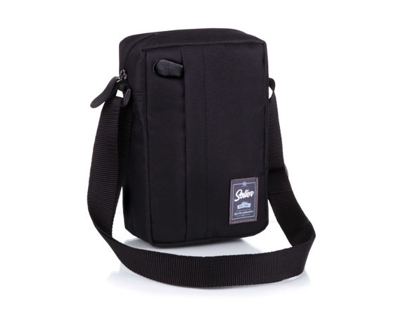 Classic, comfortable men's bag Solier S06 black