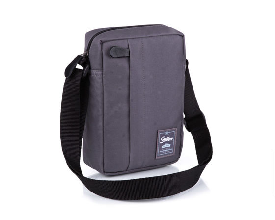 Classic, comfortable men's bag Solier S06 grey