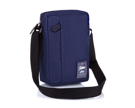 Classic, comfortable men's bag Solier S06 navy