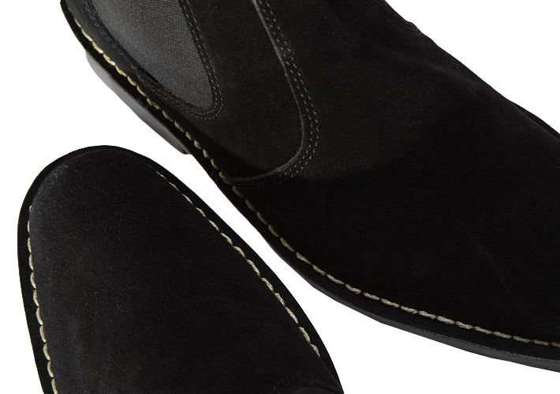 Classic leather suede Chelsea Jodhpur Boots black