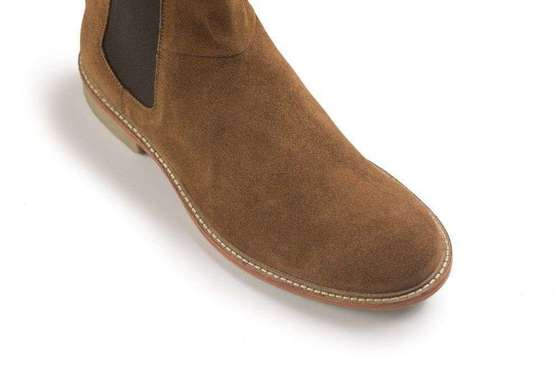 Classic leather suede Chelsea Jodhpur Boots brown
