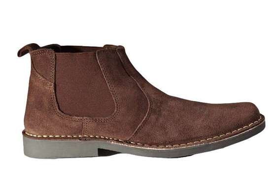 Classic leather suede Chelsea boots brown M765DBS