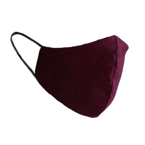 Cotton protective 2-layer mask burgundy