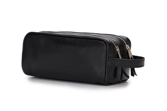 Elegant leather men's beauty bag SOLIER SZETLAND
