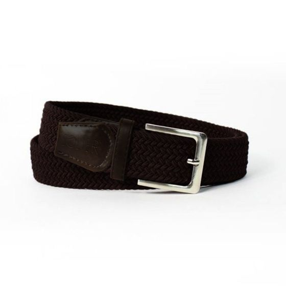 Elegant, woven belt for man SOLIER SB08 black