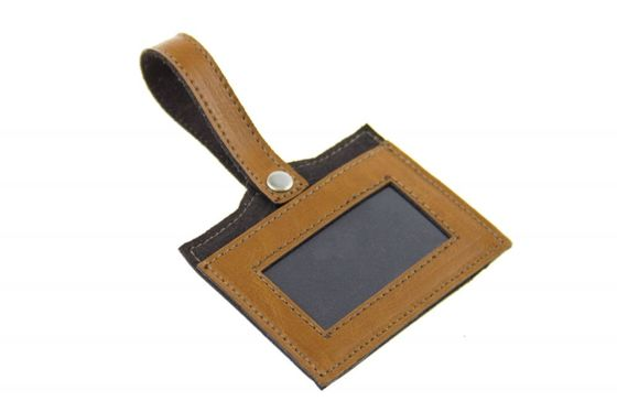 GENUINE LEATHER LUGGAGE TAG SA08 CAMEL