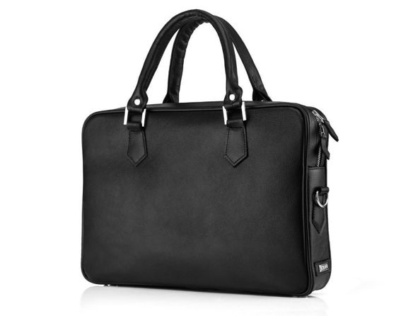 Genuine leather laptop bag Solier SL22 black
