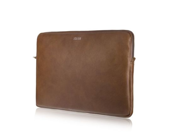 Genuine leather laptop case 13' Solier SA23 Vintage Brown