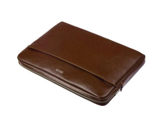 Genuine leather laptop case 15' Solier SA24A Vintage Brown