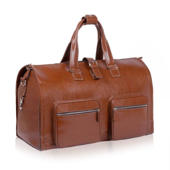 Genuine leather men's garment bag SL18 Harlow vintage brown