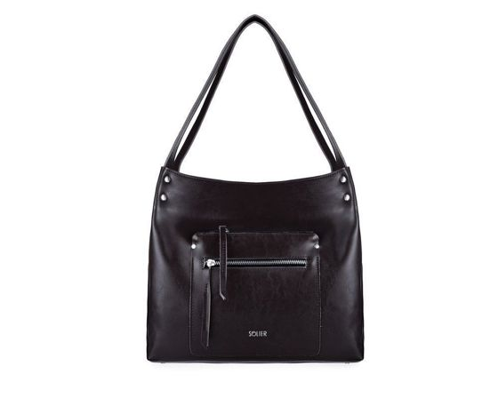 Genuine leather woman's shopper bag Vitoria FL18 black