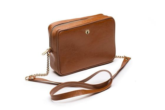 Genuine leather women's crossbody Florence brown