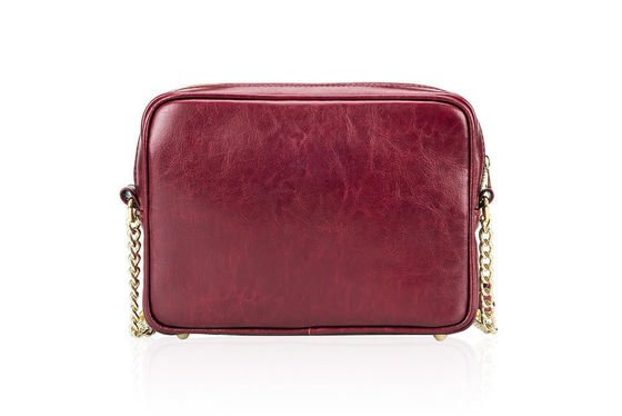 Genuine leather women's crossbody Florence burgundy